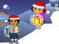 Game Ντόρα & amp? Diego. Chistmas δώρα. Παίξτε online